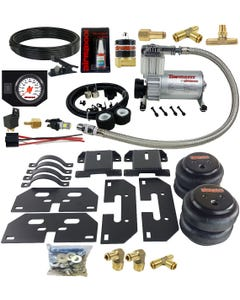 Air Tow Assist Kit White Gauge In Cab Management 2003-13 Dodge Ram 2500 & 3500