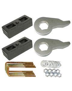 "Lift Kit Black Torsion Keys 2"" Cast Steel Blocks 1988-98 Chevy 6 Lug Trucks SUV"