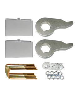 "Lift Kit Black Torsion Keys 2"" Aluminum Blocks 1988 - 98 Chevy 6 Lug Truck & SUV"