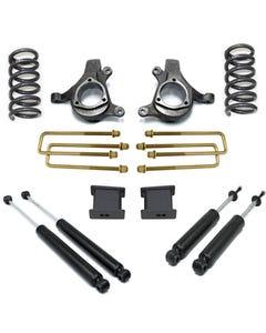 "1999-2006 Chevy Silverado 1500 2wd 6 Cyl 5"" Front 3"" Rear Lift Kit W/ MaxTrac Shocks - MaxTrac K880953-6"