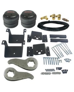 Level Lift Kit 2011-2017 Chevy 8 Lug Truck Front Torsion Keys & Rear Air Suspension