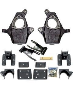Chevy Drop Spindles Shackles Flip Kit 2007-15 1500 Trucks 2/4 Suspension Lower