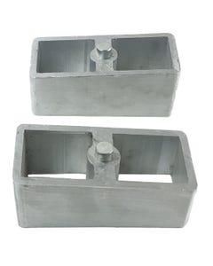 """Lift Blocks 2"""" Aluminum Pair For Rear Axle 1994 - 2008 Dodge Ram 1500 Truck"""