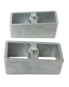 """4"""" Aluminum Lowering Blocks Pair For Rear Axle 1985 - 2004 Chevy S10 Truck"""