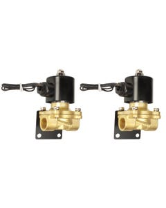 """Two Air Ride Suspension 3/8""""npt Brass Valves With Mounting Brackets"""