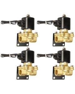 "Air Suspension Valves Four 1/2""npt Electric Solenoid & Mounting Bracket 250psi"