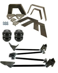 """Rear Universal Weld on Kit 8"""" Frame Notch Triangulated 4 Link Slam SS-7 Bags"""