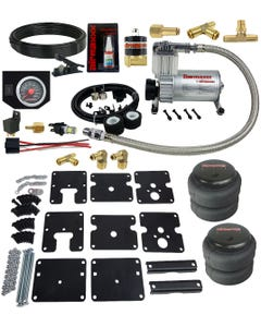 Air Tow Assist Kit No Drill 99-06 Chevy Silverado 1500 In Cab Control & Compressor
