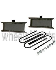 """rear axle drop kit 2"""" fab steel lowering blocks ubolts for 98-older import truck"""