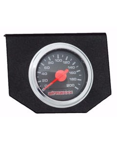 Air Ride Suspension Single Needle Gauge & Panel 200psi Display No Switches