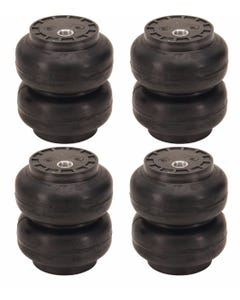 "4 SS-6 Slam Bags Air Ride Suspension 6"" Round 1/2""npt Port"