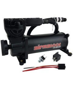 airmaxxx 580 Black Air Ride Compressor Single with 165/200 pressure switch