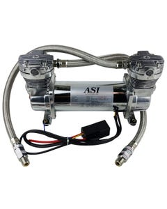 ASI Hydra Air Compressor Dual Head Chrome Air Suspension