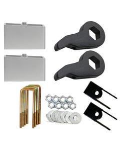 "Lift Kit Chevy 1999-06 1500 4X4 Forged Torsion Keys 4"" Aluminum Blocks Shock Ext"