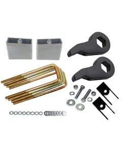 "Lift Kit Chevy Black Torsion Keys Shock Extend 2"" Rear Blocks 00-10 8 Lug Trucks"