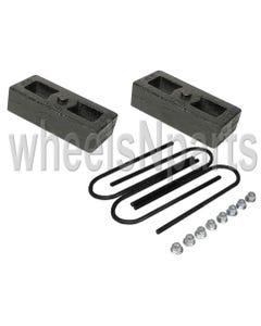 """2"""" Lowering Blocks Cast Steel Rear Axle Ubolts Drop Kit 1998-Older Import Trucks"""