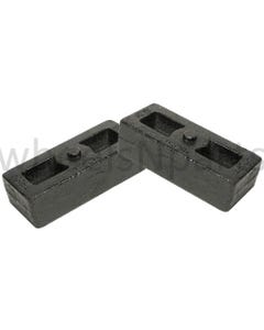 "2"" Cast Steel Lift Blocks Pair For Rear Axle 2001 - 2010 Chevy 2500 3500 Truck"