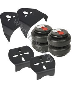 Rear Weld On Air Ride Mounting Brackets & 2500Lb Air Bags Suspension Mount Kit
