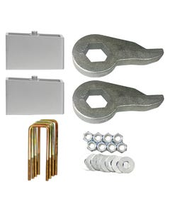 "Lift Kit Chevy Front Torsion Keys 2"" Rear Aluminum Blocks 92-99 4X4 Truck 8 Lug"