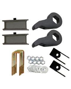 "Lift Kit Chevy 99-06 1500 4X4 Truck Blk Keys Shock Extension 4"" Fab Steel Blocks"