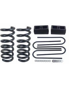 """2/2 Drop Kit S10 2WD 4 Cyl 2"""" Front Springs 2"""" Rear Cast Steel Blocks Ubolts"""