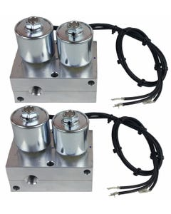 """Two Air Ride Suspension Manifold 3/8""""npt Direct Action Valves"""