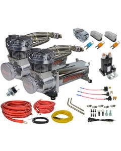 airmaxxx chrome 480 air compressor dual pack & wiring kit