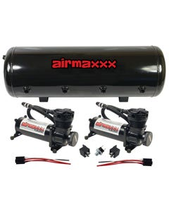 airmaxxx Air Compressors 480 Black & 8 Gallon Steel Tank 165 on / 200 off