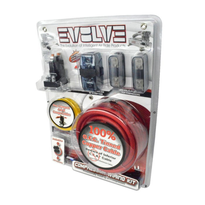 Dual Air Compressor Wiring Kit, EVOLVE By AVSwheelsnparts.com