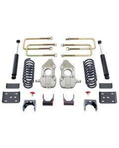 """2015-2019 Ford F-150 2wd 3/5"""" Lowering Kit W/ MaxTrac Shocks - MaxTrac K333235-8"""