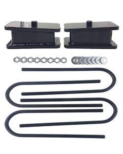 """2"""" Lowering Blocks Fab Steel Rear Axle U Bolts Drop Kit 1999-2014 Import Trucks"""