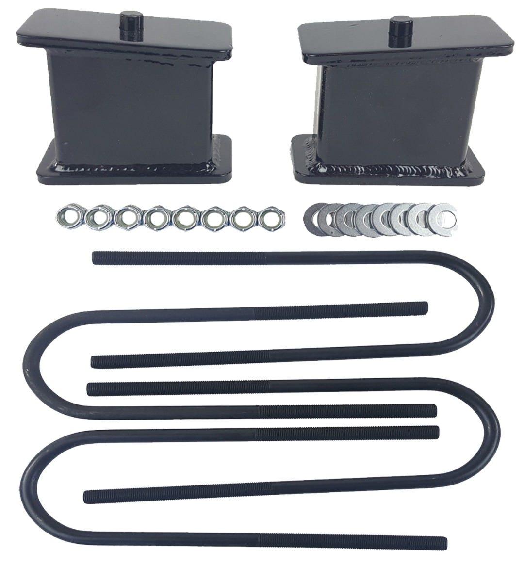 "3//4 Drop Kit Fits S10 2wd 4 Cyl 3/"" Front Springs 4/"" Rear Fab Steel Blocks Ubolts"