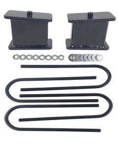 """4"""" Lowering Blocks Fab Steel Rear Axle U Bolts Drop Kit 1999-2014 Import Trucks"""