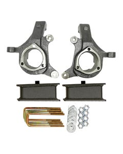 "1999 - 2006 Chevy / GMC Silverado / Sierra 3"" Lifted Spindles and 2"" Fabricated Lift Blocks Lift Kit 2"