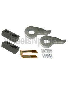"""Lift Kit Torsion Keys 2"""" Cast Steel Blocks 1999 - 06 Chevy 6 Lug 4X4 Trucks"""