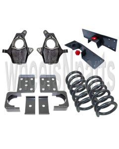 """Drop Spindles Lowering Flip Suspension 4""""/6"""" Kit 1999-2007 Chevy GMC 1500 V6 2WD"""