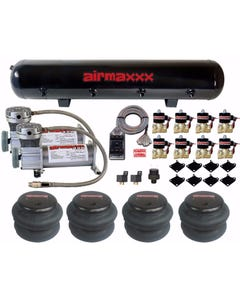 """Air Ride Parts 400 Air Compressors 1/2"""" Brass Valves 2600 Bags Clear 7 Switchbox"""