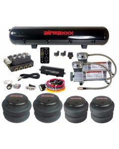 Accuair VU4 & SwitchSpeed w/ Pewter Air Compressors & Steel Tank
