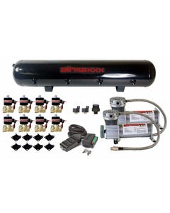 """Air Compressors 400 Pewter 3/8"""" Valves Black 9 Switch Tank Air Ride Suspension"""