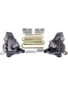 """3.5"""" Front Lift Spindles F150 2"""" Rear Aluminum Blocks Kit 1997 - 2003 2WD Ford"""