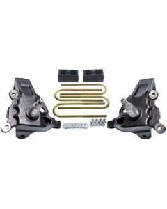 """3.5"""" Front Lift Spindles Ford F150 2"""" Rear Cast Block Suspension Kit 1997-03 2WD"""