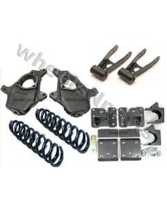 Chevy Drop Kit 3/4 Spindles Springs Shackle Flip 1500 2WD V6 Lowering Suspension