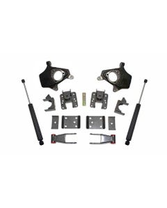 """2014-2016 GM 1500 2wd/4wd 2/4"""" Lowering Kit (Magneride Models) - MaxTrac KS331324"""