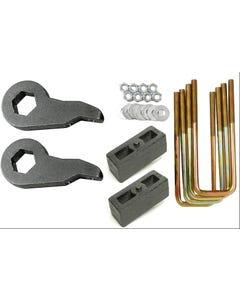 """Lift Kit Black Torsion Keys 2"""" Cast Steel Blocks 1992-99 Chevy 4X4 8 Lug Trucks"""