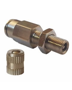 "Straight Compression One Way Check Valve Air Hose Fitting 1/2"" Male NPT x 1/2"" Tube"