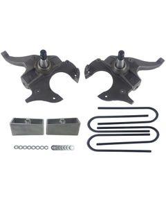 "S10 Drop Spindles & Aluminum Blocks 2"" Front 2"" Rear Suspension Lowering Kit 2WD"