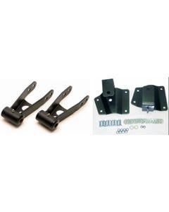 "Chevy 4"" Drop Kit Rear Shackles Hangers 1999 - 2006 Silverado 1500 2WD Short Bed"
