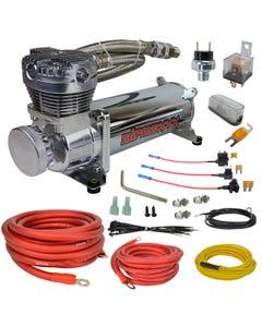 airmaxxx chrome 480 air compressor & wiring kit