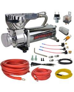 airmaxxx chrome 580 air compressor & wiring kit