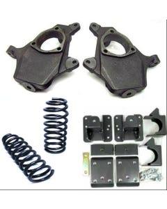 "Chevy Drop Spindles Springs Flip Kit 07-14 1500 V6 2WD 3""/5"" Suspension Lowering"